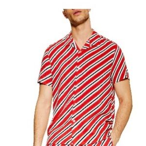 Topman men's diagonal striped shirt